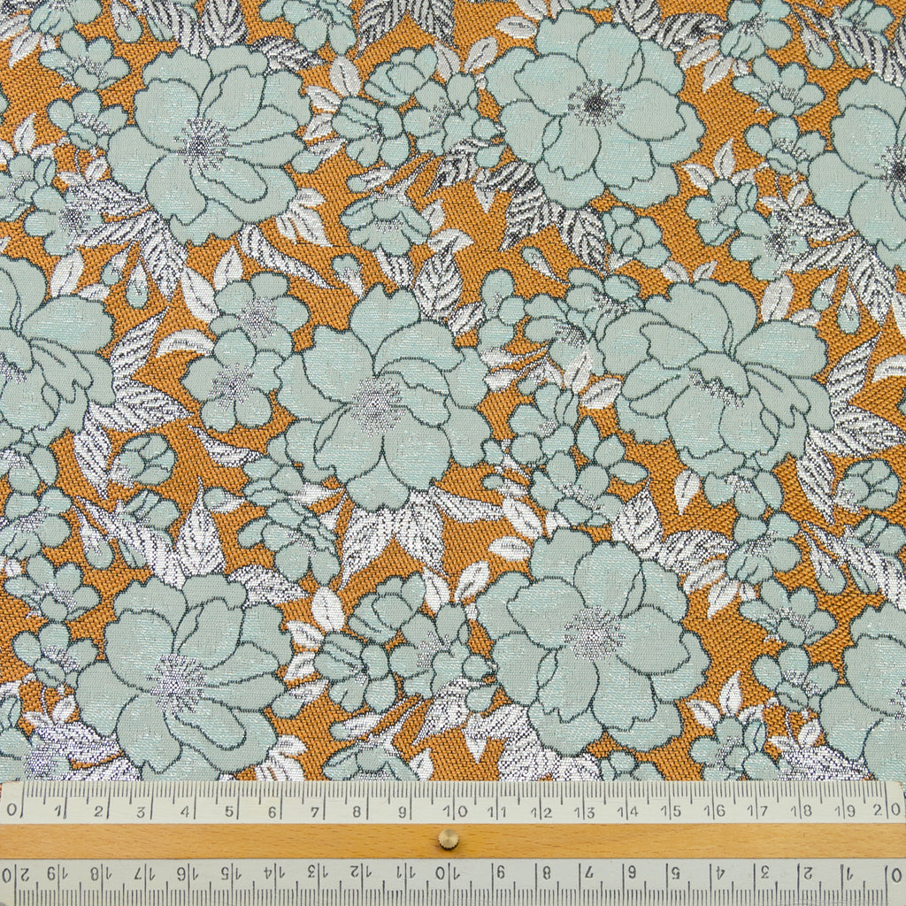 Emery Flowers Jacquard Polyester Blend