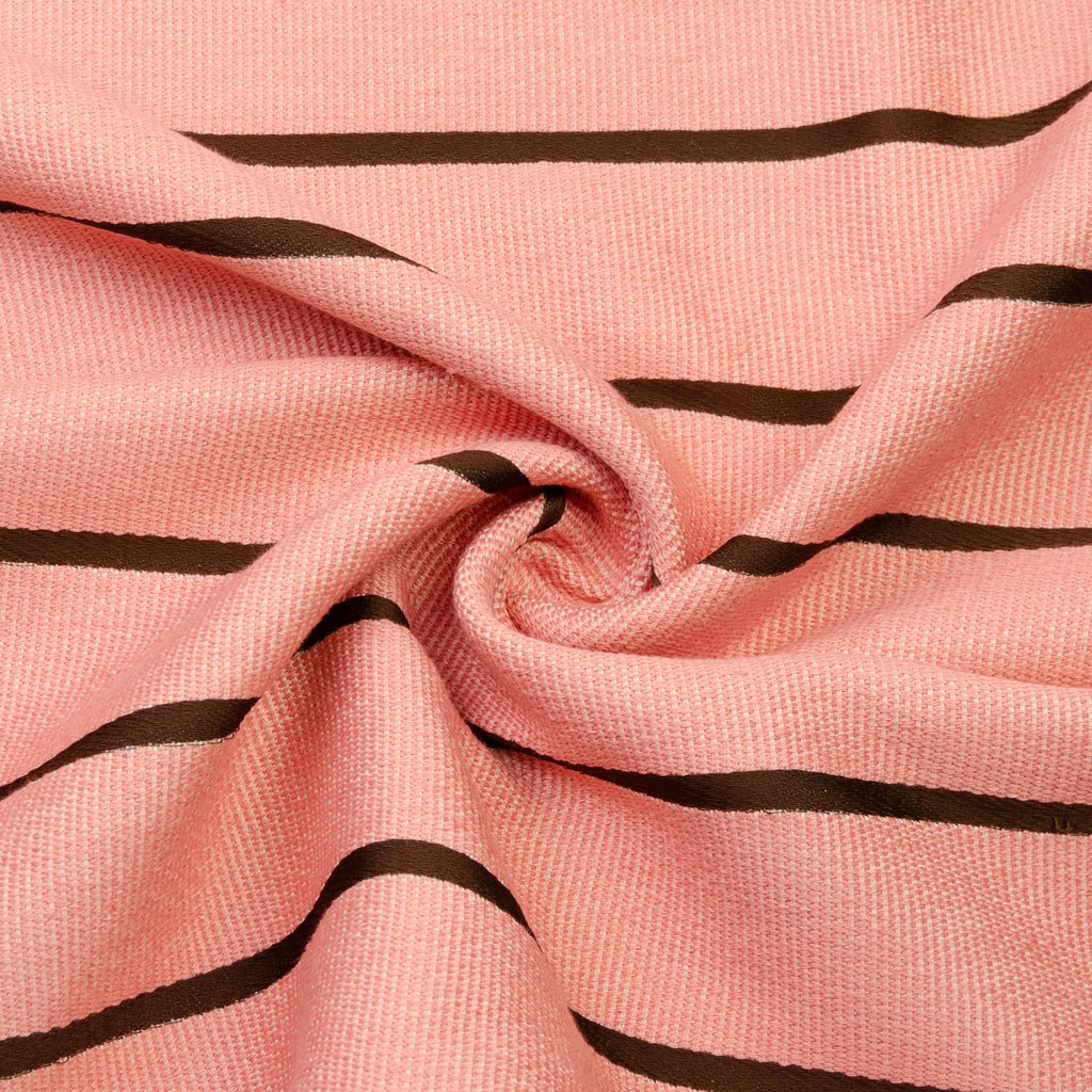 Endecott Pink Striped Polycotton