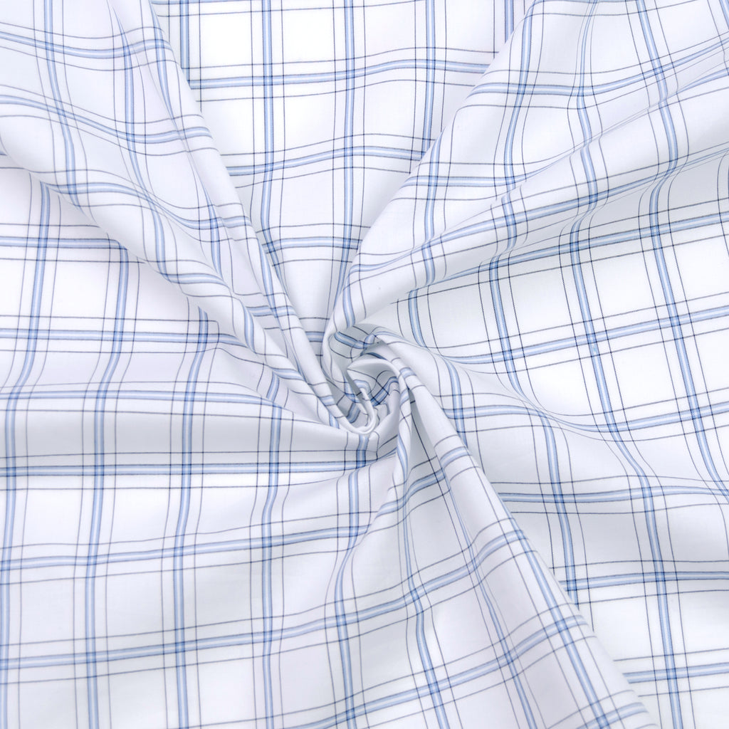 Forster White Check Cotton