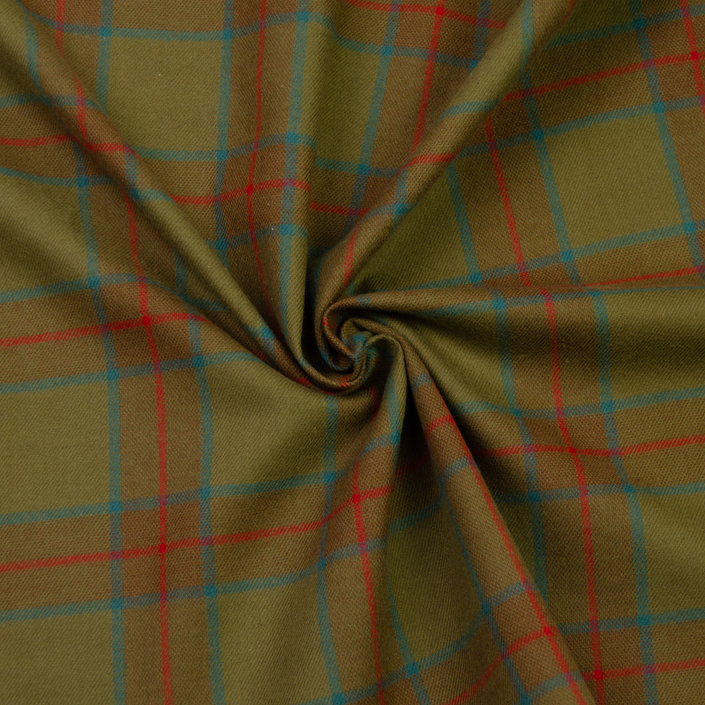 Limber Mustard Green Tartan Cotton