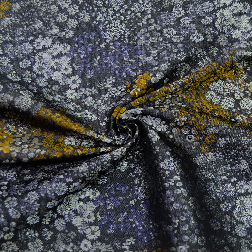 Lapis Purple Flowers Jacquard