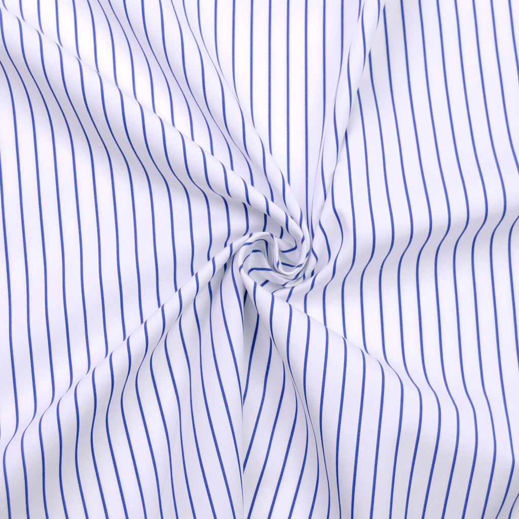 Luna Blue & White Striped Cotton