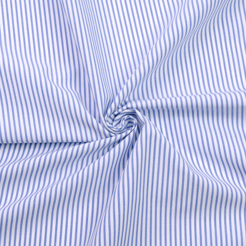 Lopez White & Blue Striped Cotton