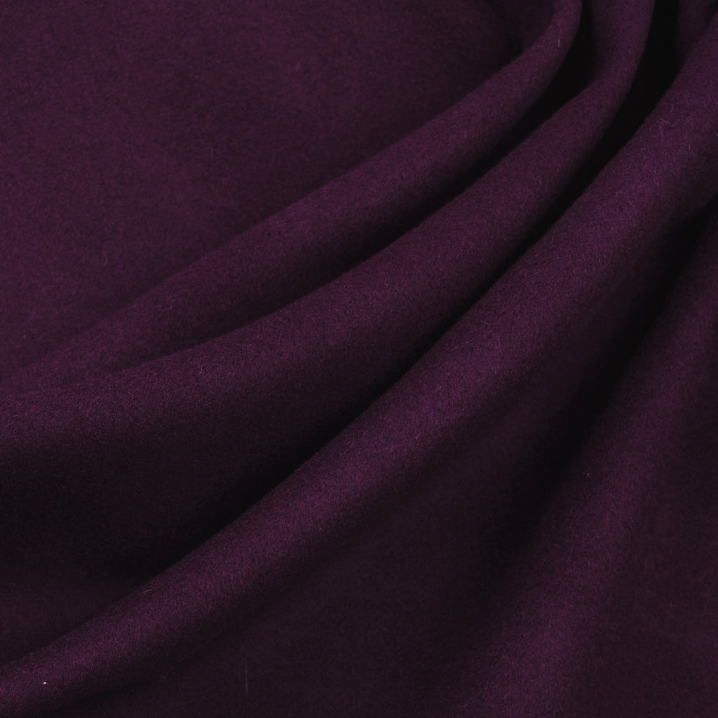 Isolde Purple Wool Melton