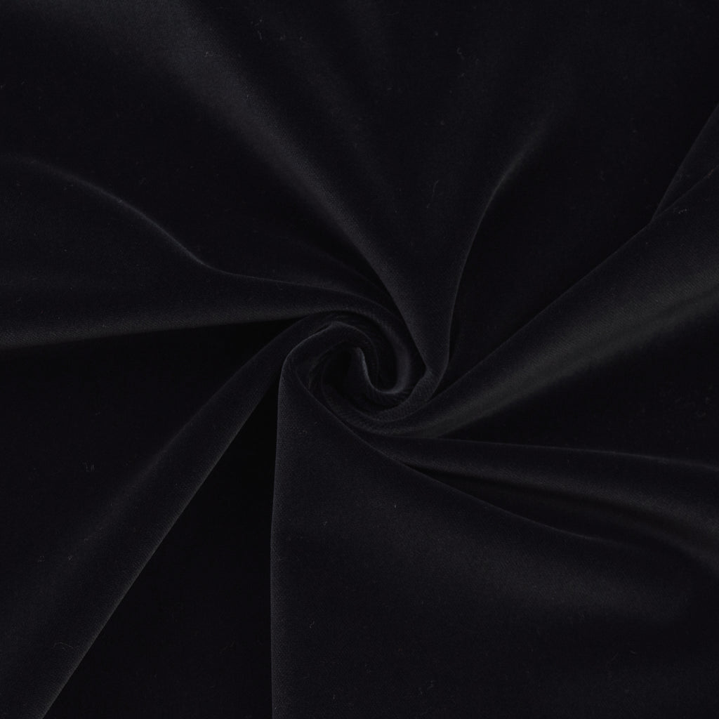Dakari Black Cotton Velour