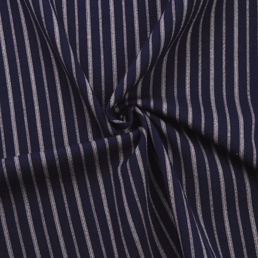 Ifan Navy & Grey Striped Wool