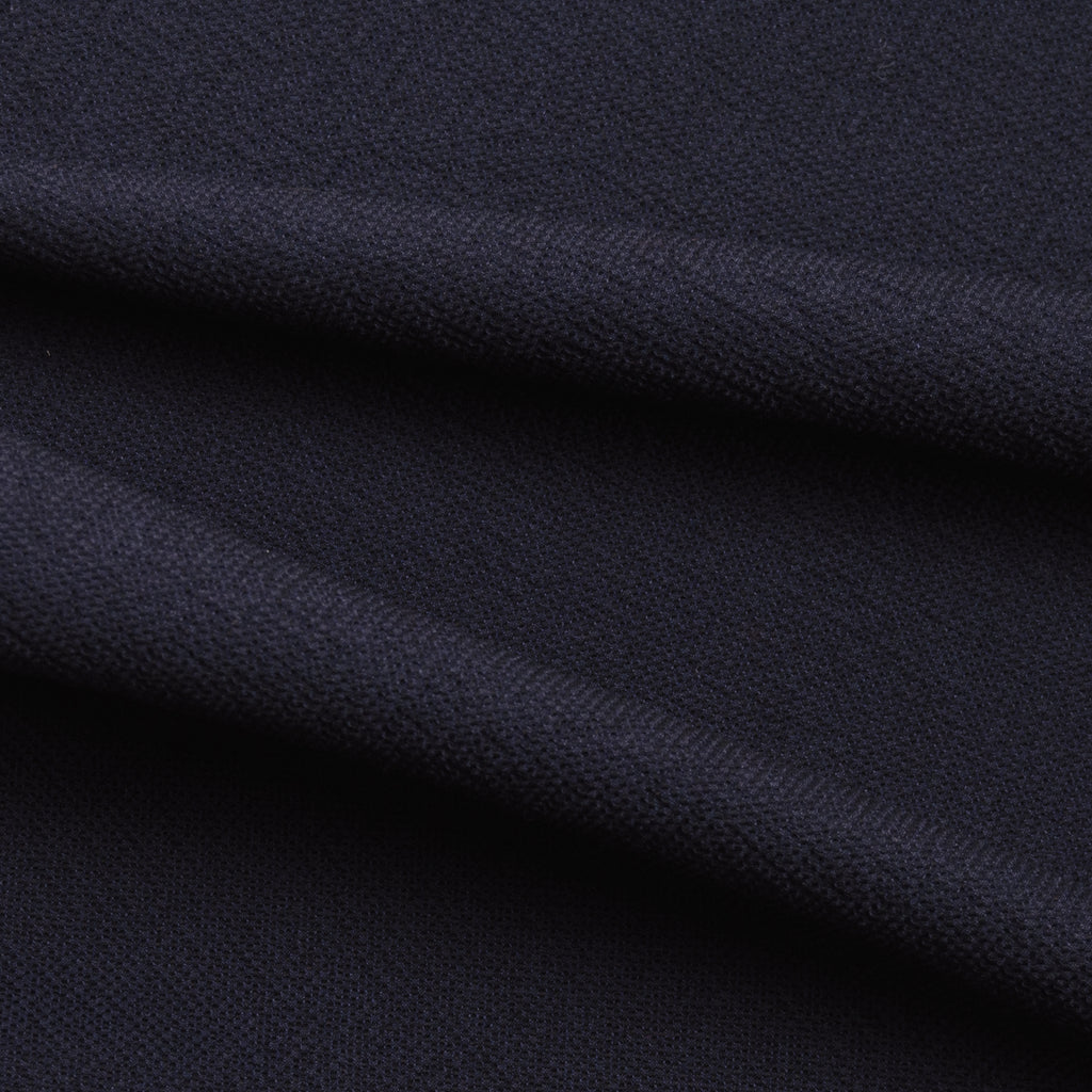 Ilario Navy Blue Textured Wool