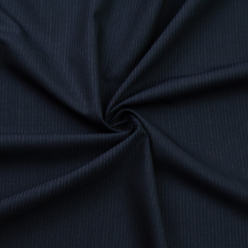 Idwal Navy Stripe Wool