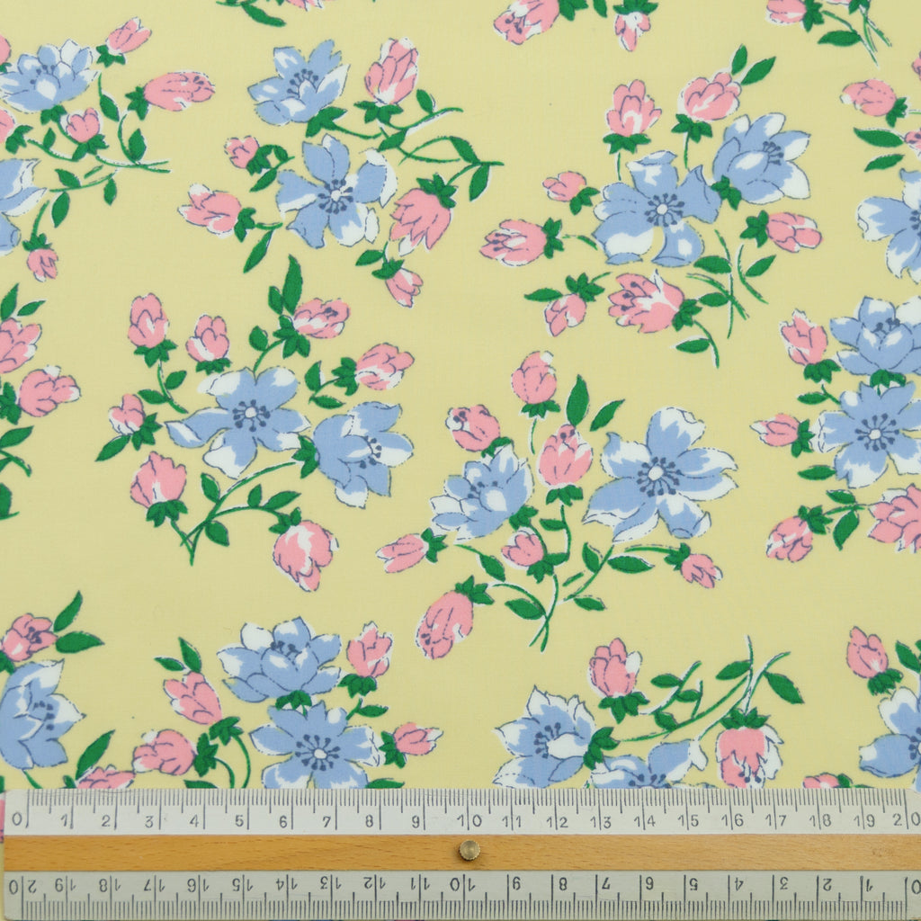 Lena Yellow Flowers Liberty Cotton