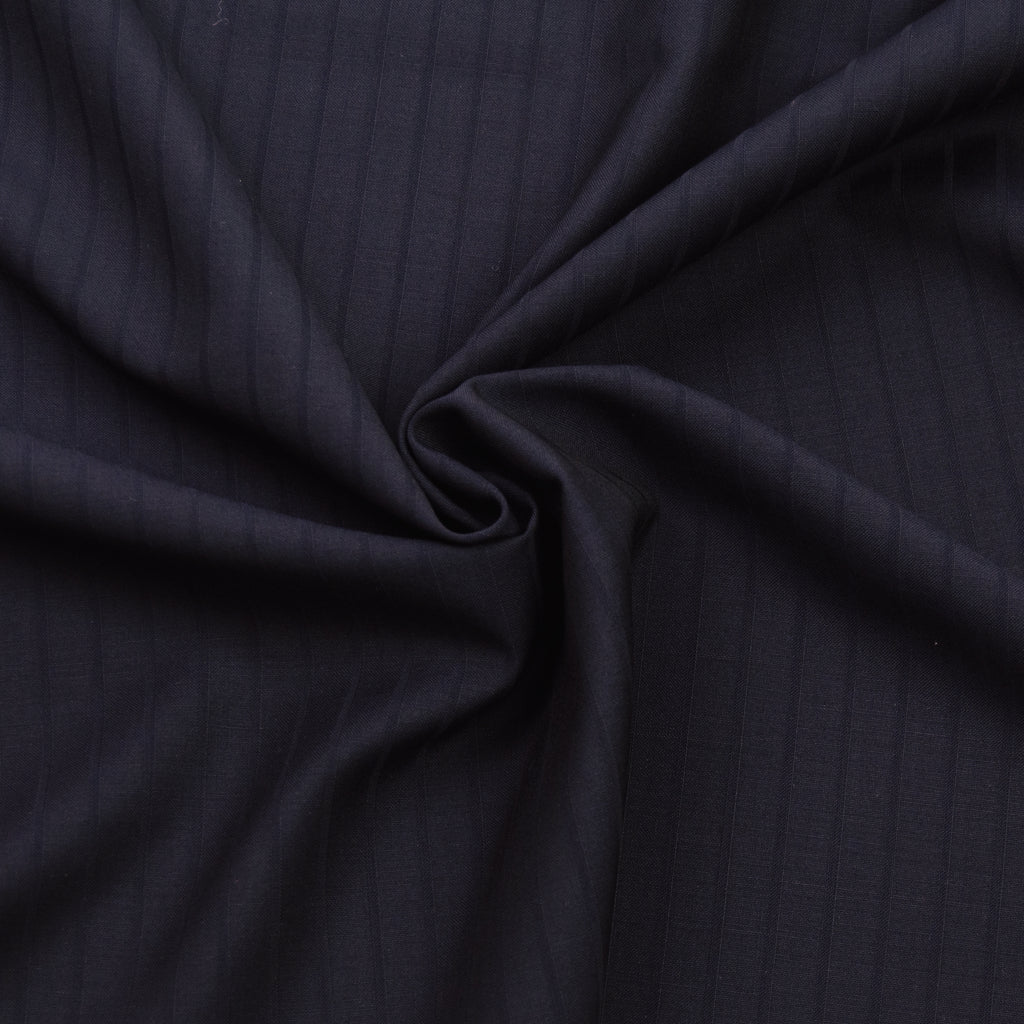 Idella Navy stripe Wool