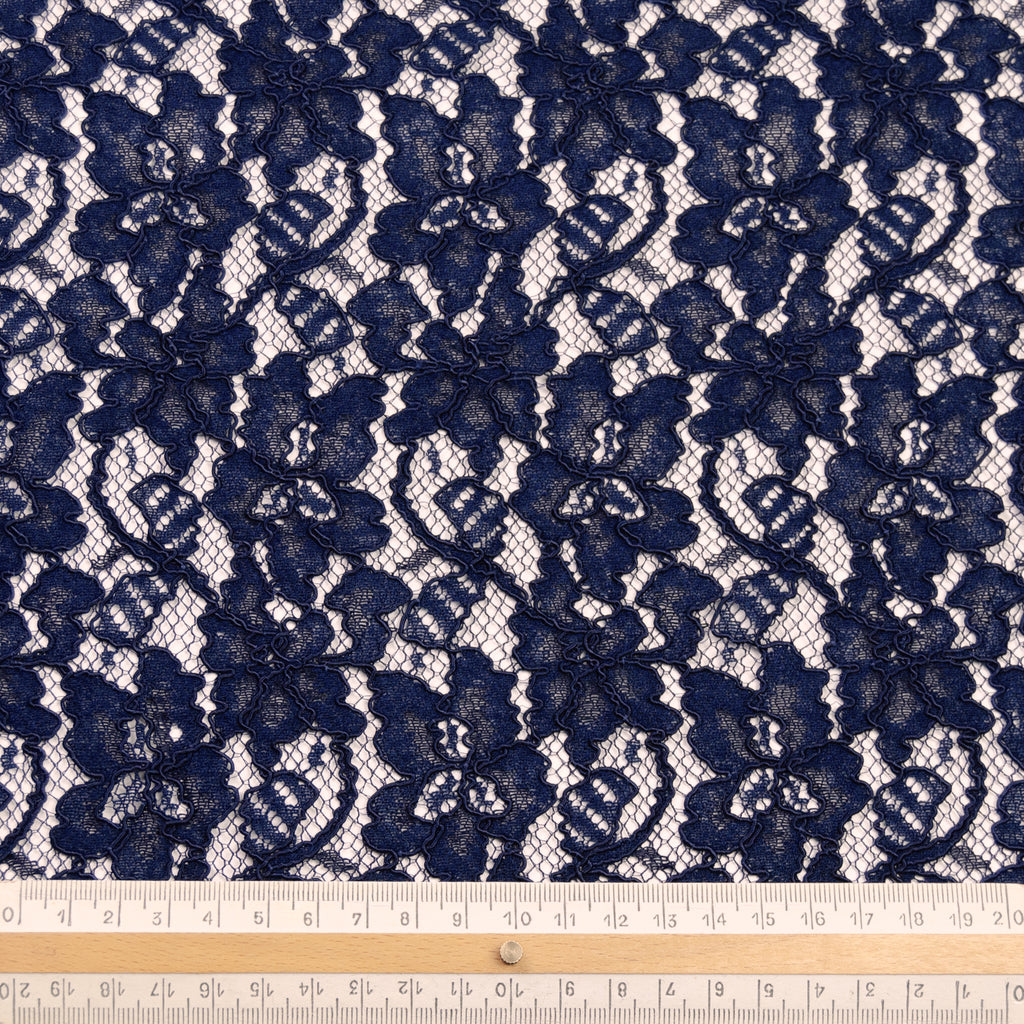 Isaline Navy Blue Lace