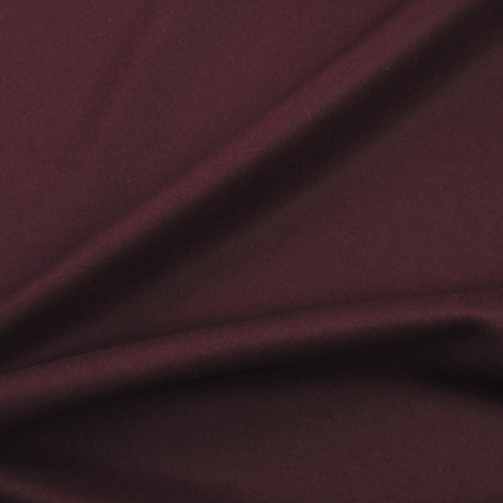 Leda Burgundy Double Face Wool