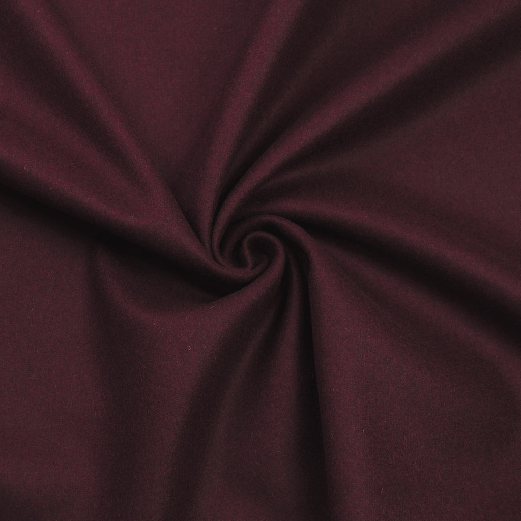 Leda Bordeaux Double Face Wool