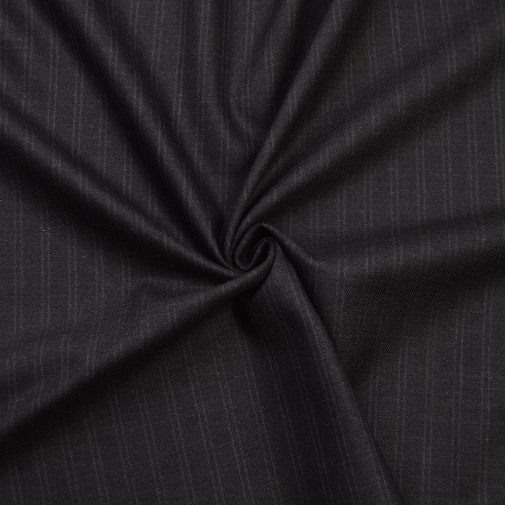 Ivy Dark Grey Stripe Wool Suiting