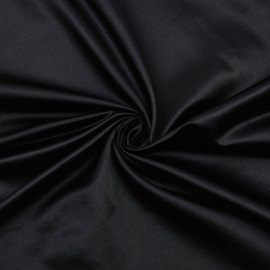 Dalia Black Polyester Satin