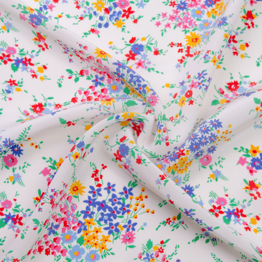 Latifa Flower Printed Silk Crêpe de Chine