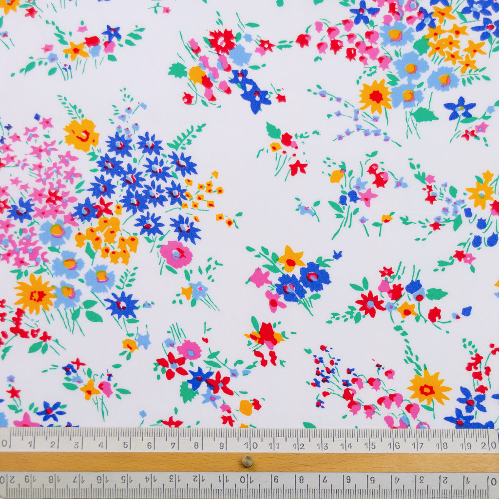 Lily Flower Printed Cotton Poplin