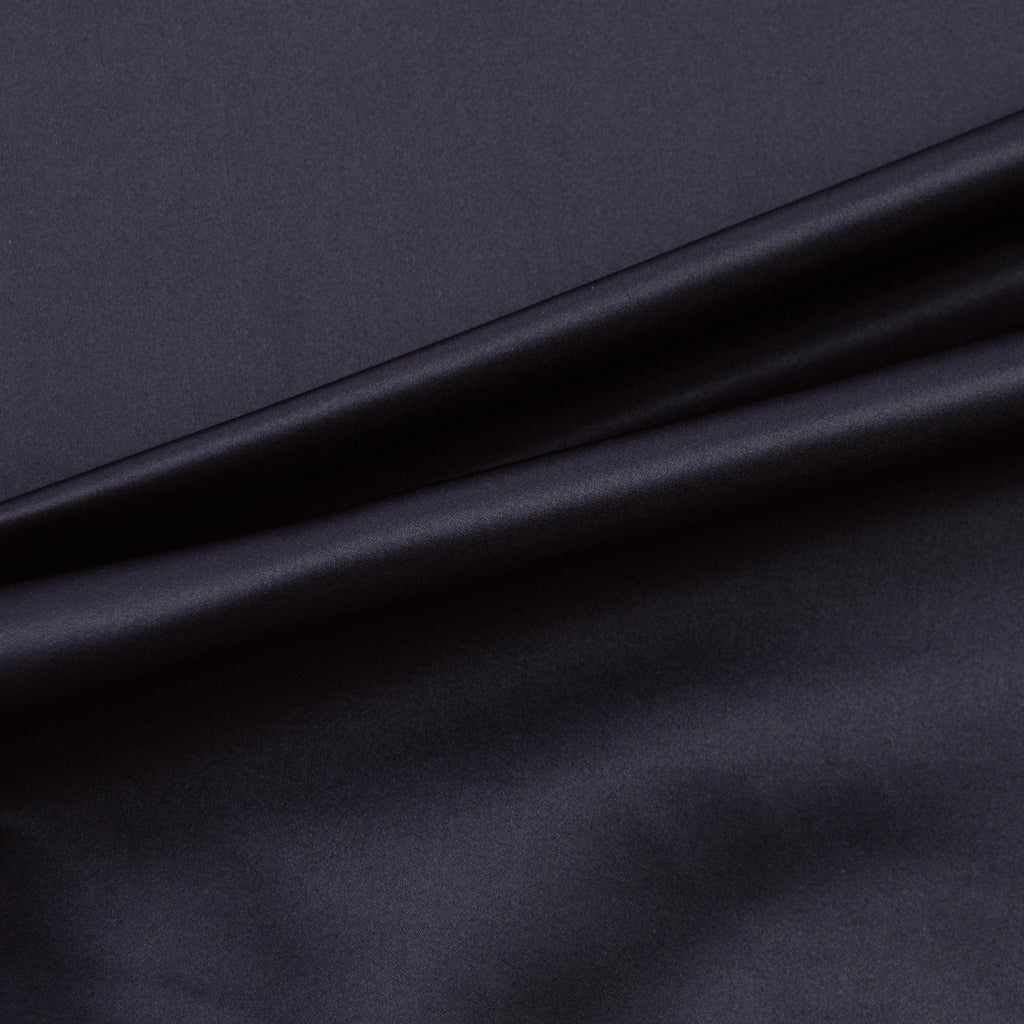 Lea Navy Blue Polyester Satin