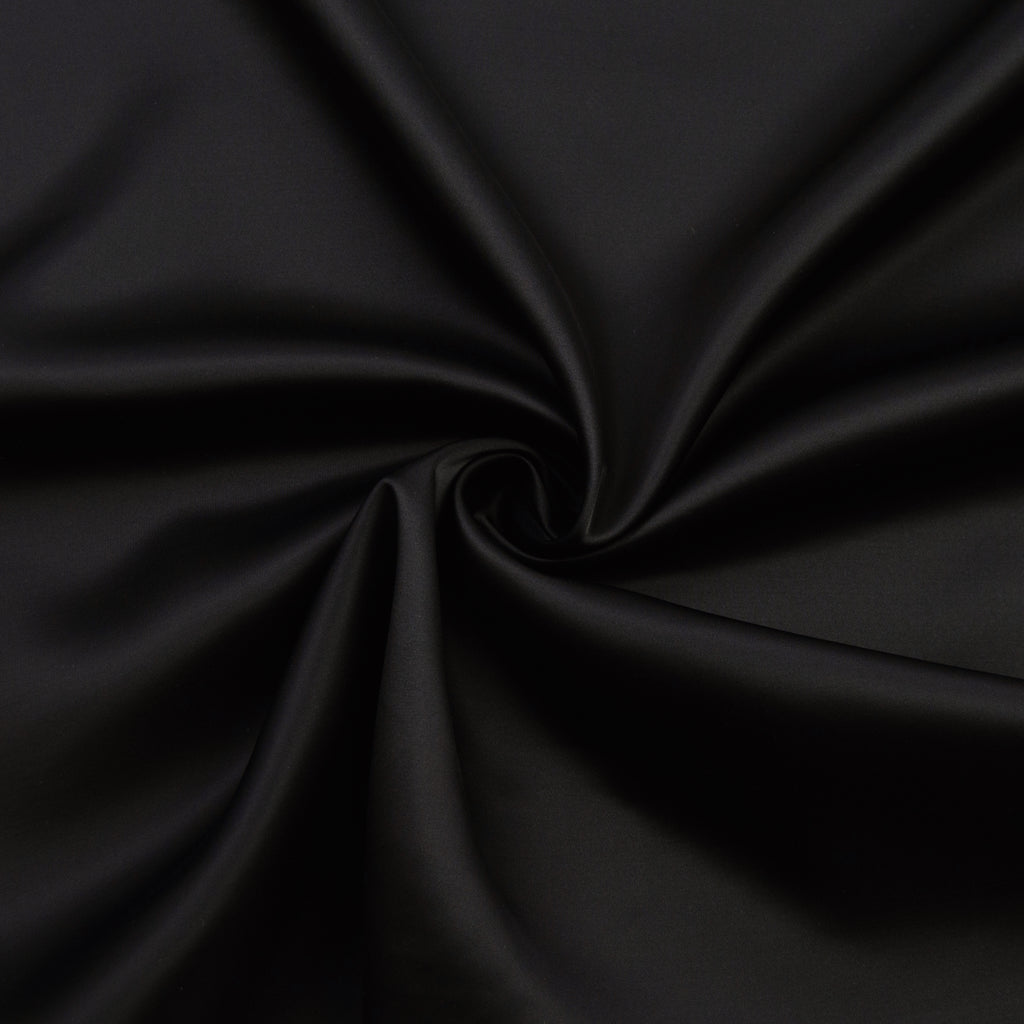 Dallan Black Polyester Satin