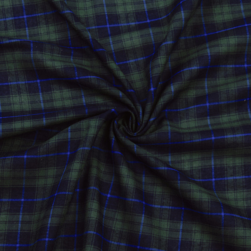 Lefty Blue & Green Tartan Cotton