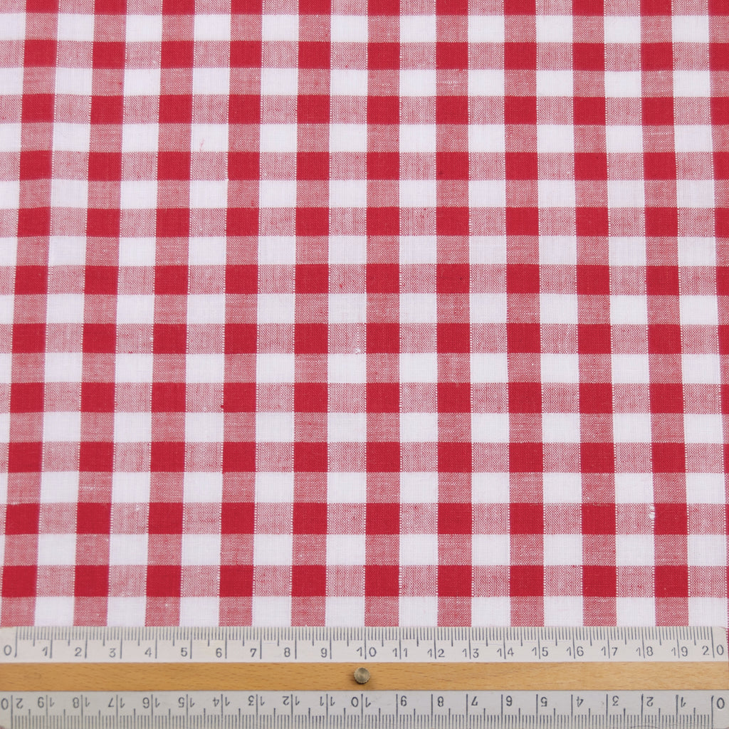 Laraine Red & White Vichy Cotton