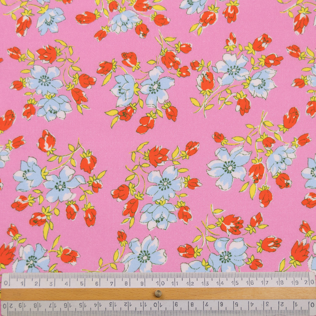 Lam Pink Floral Cotton
