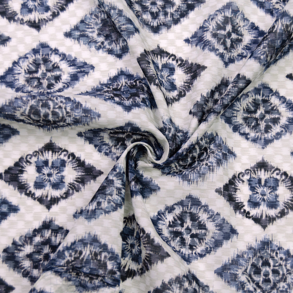 Fibe Blue Printed Cotton