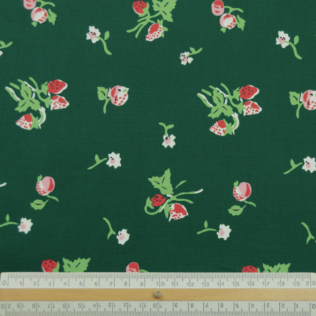 Leopold Green Flowers Printed Cotton