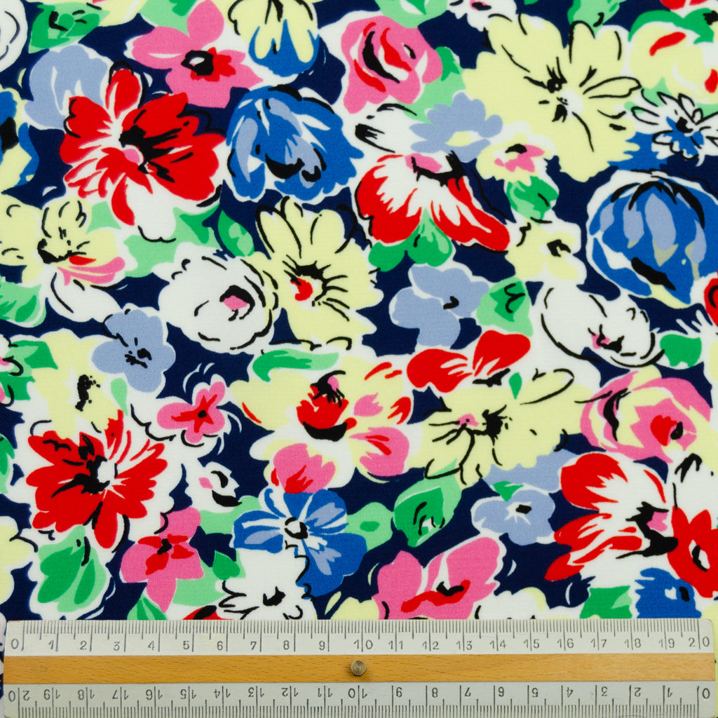 Kate Multicolour Flower Printed Silk