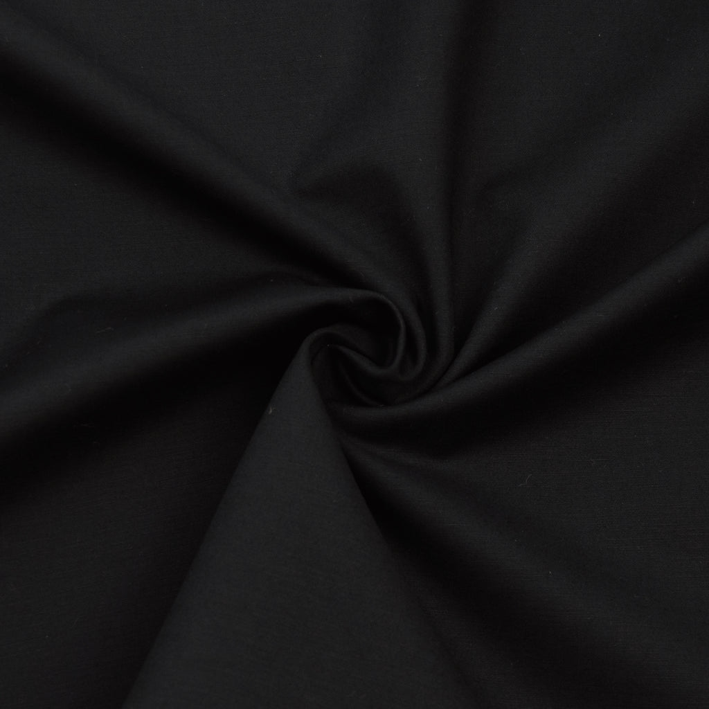 Ferlin Black Cotton Stretch