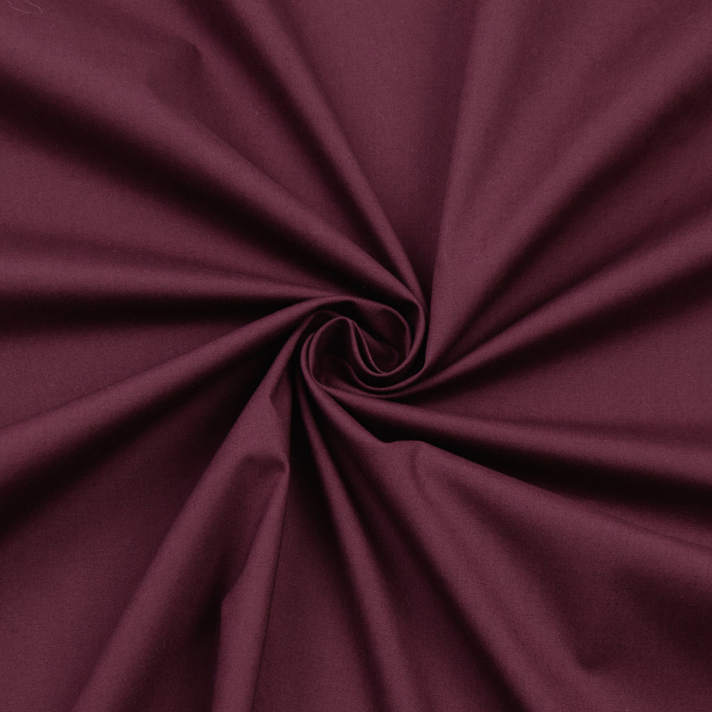 Frisco Burgundy Cotton Poplin Stretch