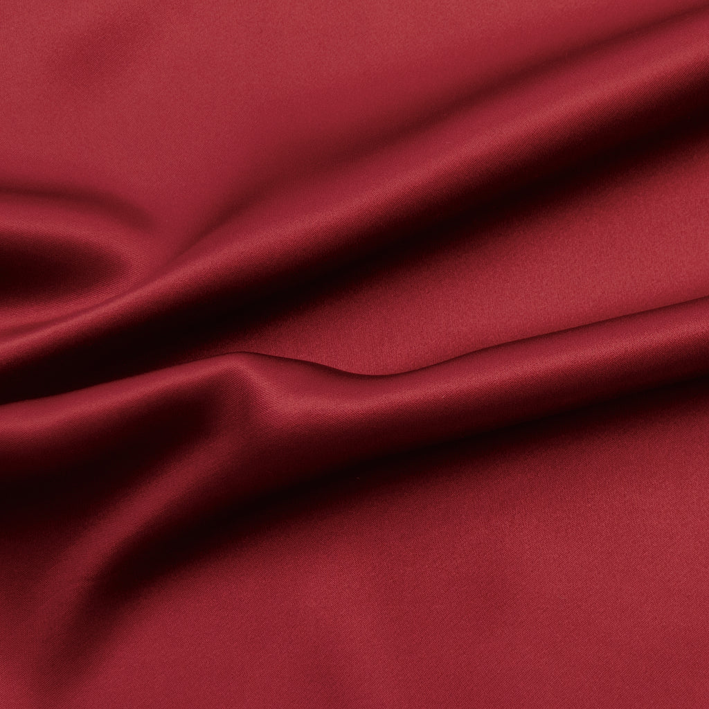 Fiana Red Silk Satin