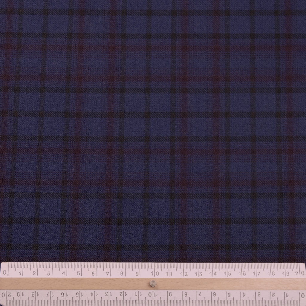 Travon Tartan Stretch Polyester Viscose