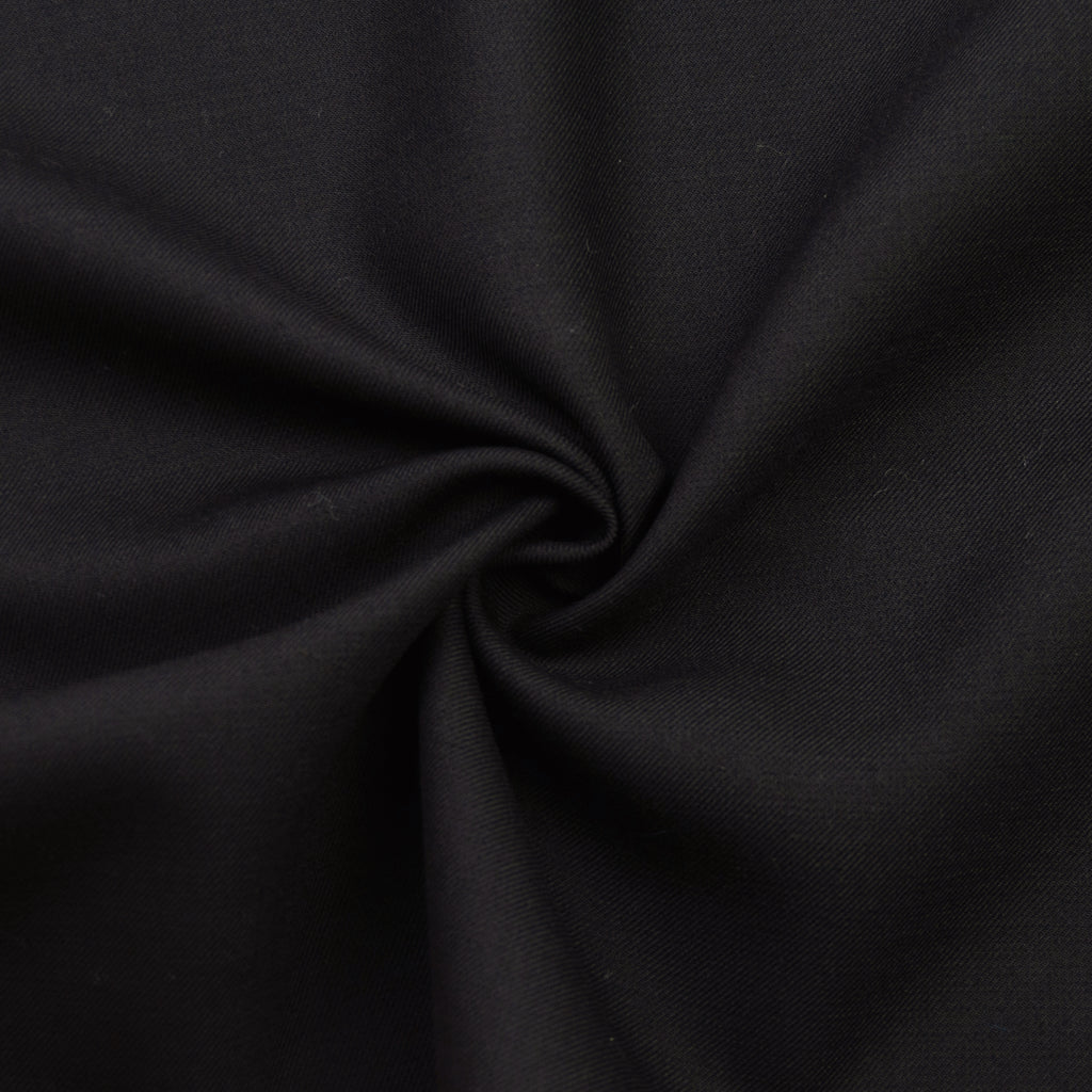 Ivan Black Twill Wool