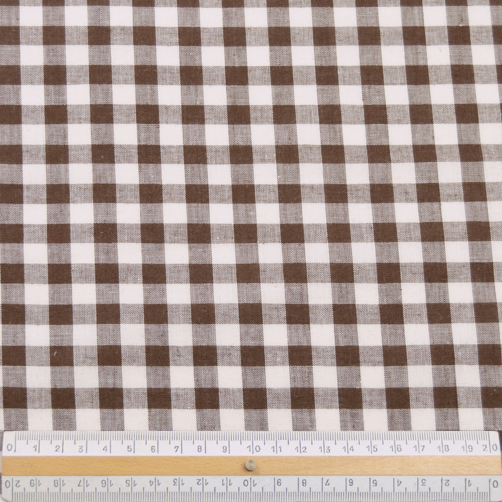 Fulk Chocolate Brown/Ecru Check Cotton