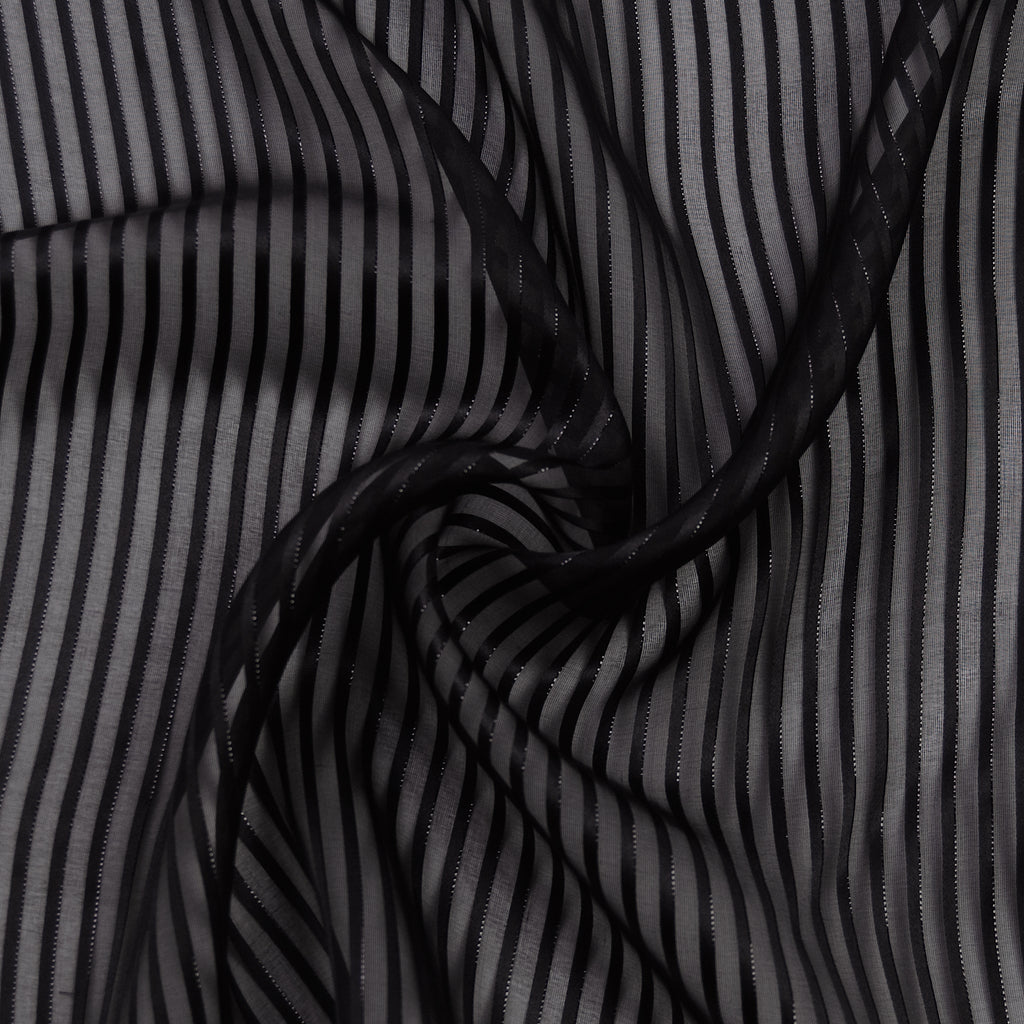 Femi Black Stripe Silk
