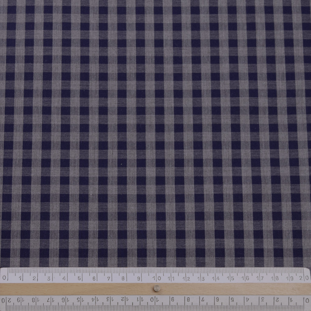 Lamis Navy & Grey Vichy Cotton