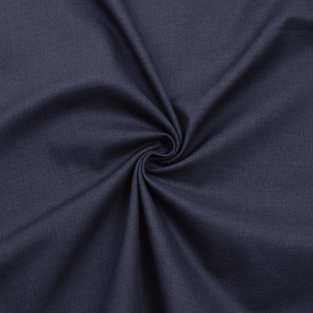 Fabian Blue Stretch Cotton Twill