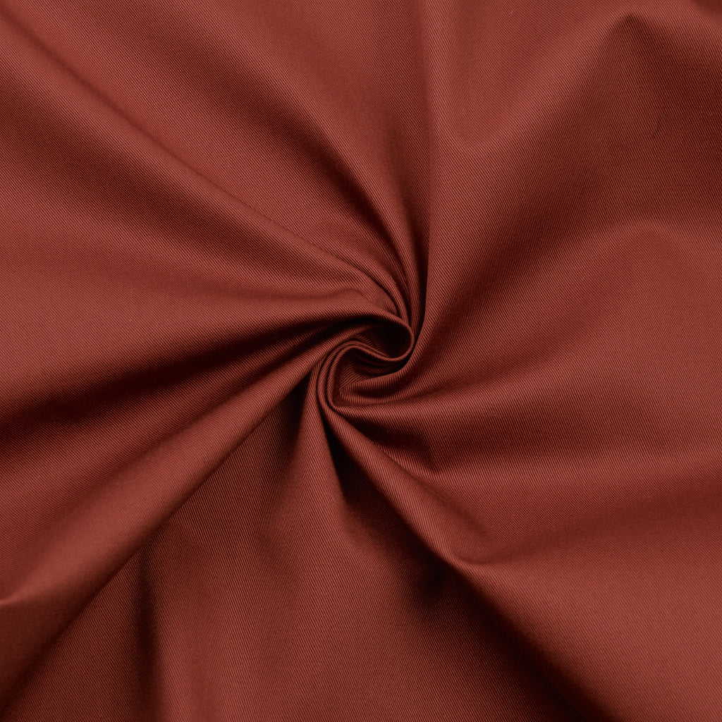Lazar Red Rust Cotton Twill