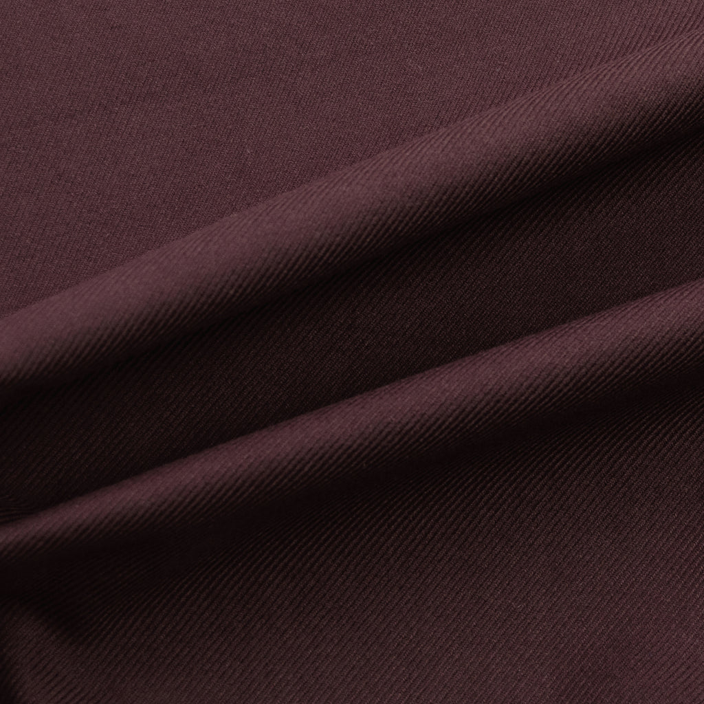 Freedom Aubergine Brown Twill Cotton Denim
