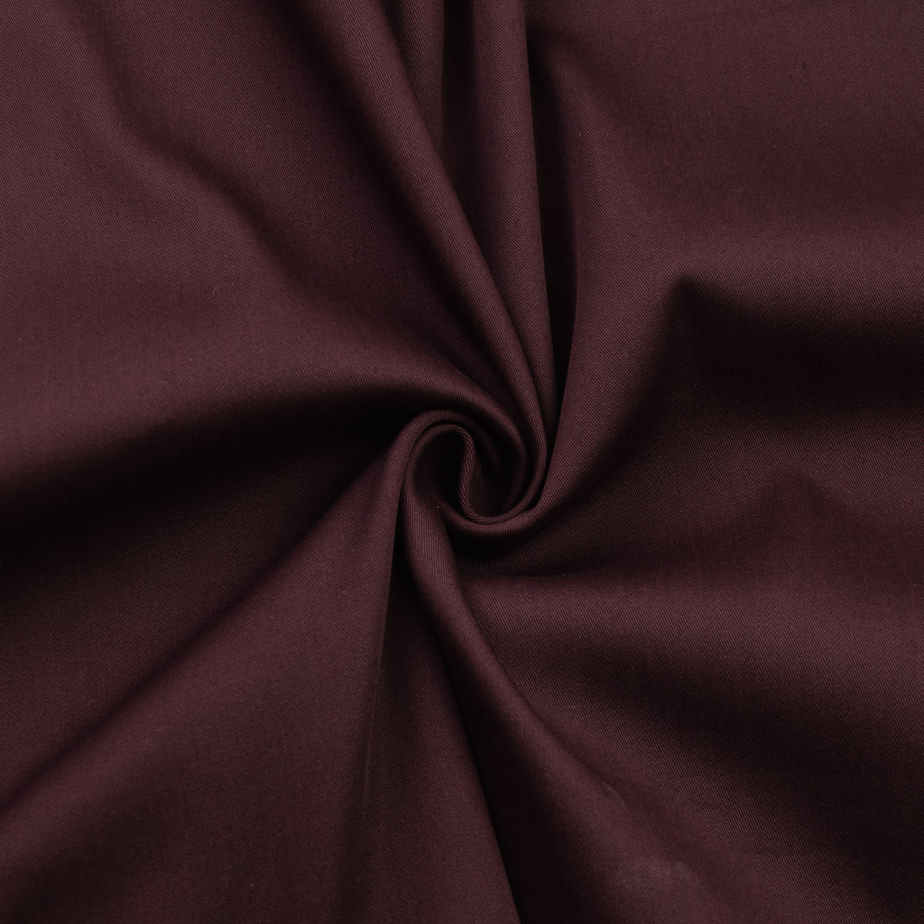 Fleur Burgundy Cotton Blend