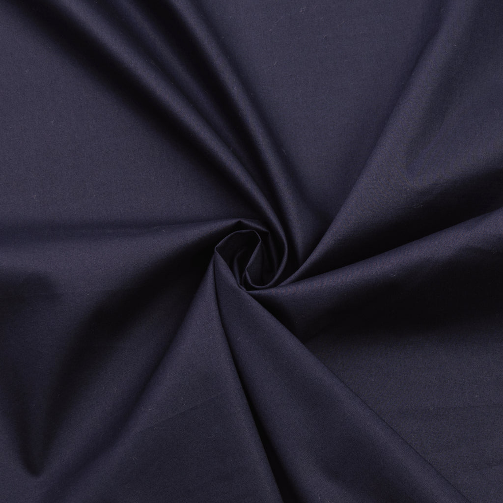 Darda Navy Blue Cotton Poplin