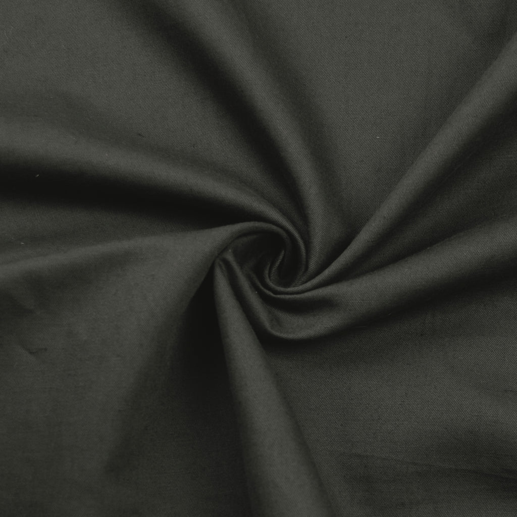 Frayne Dark Green Grey Cotton Twill