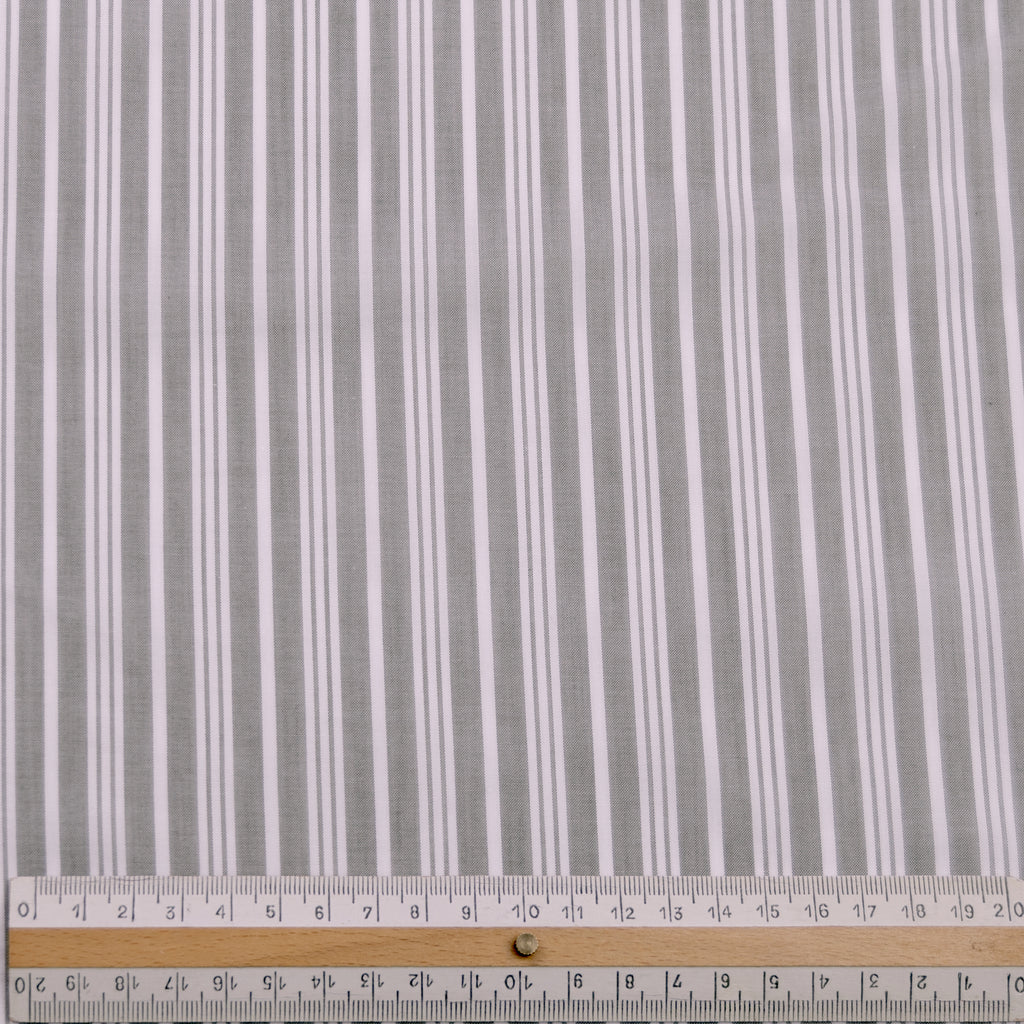 Danny Grey & White Stripe Cotton