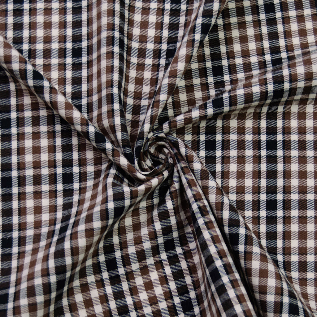 Daniel Brown & Black Check Cotton