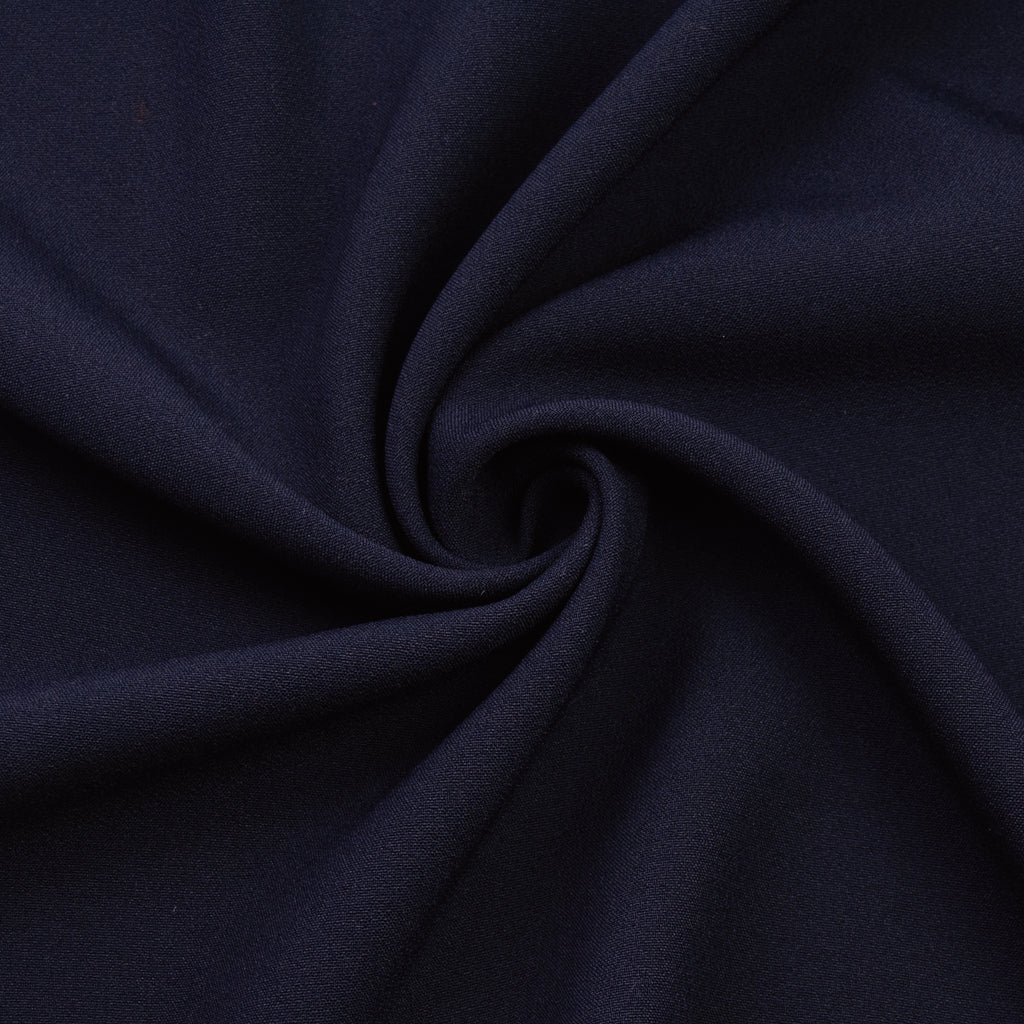 Fadri Navy Blue Viscose Crêpe