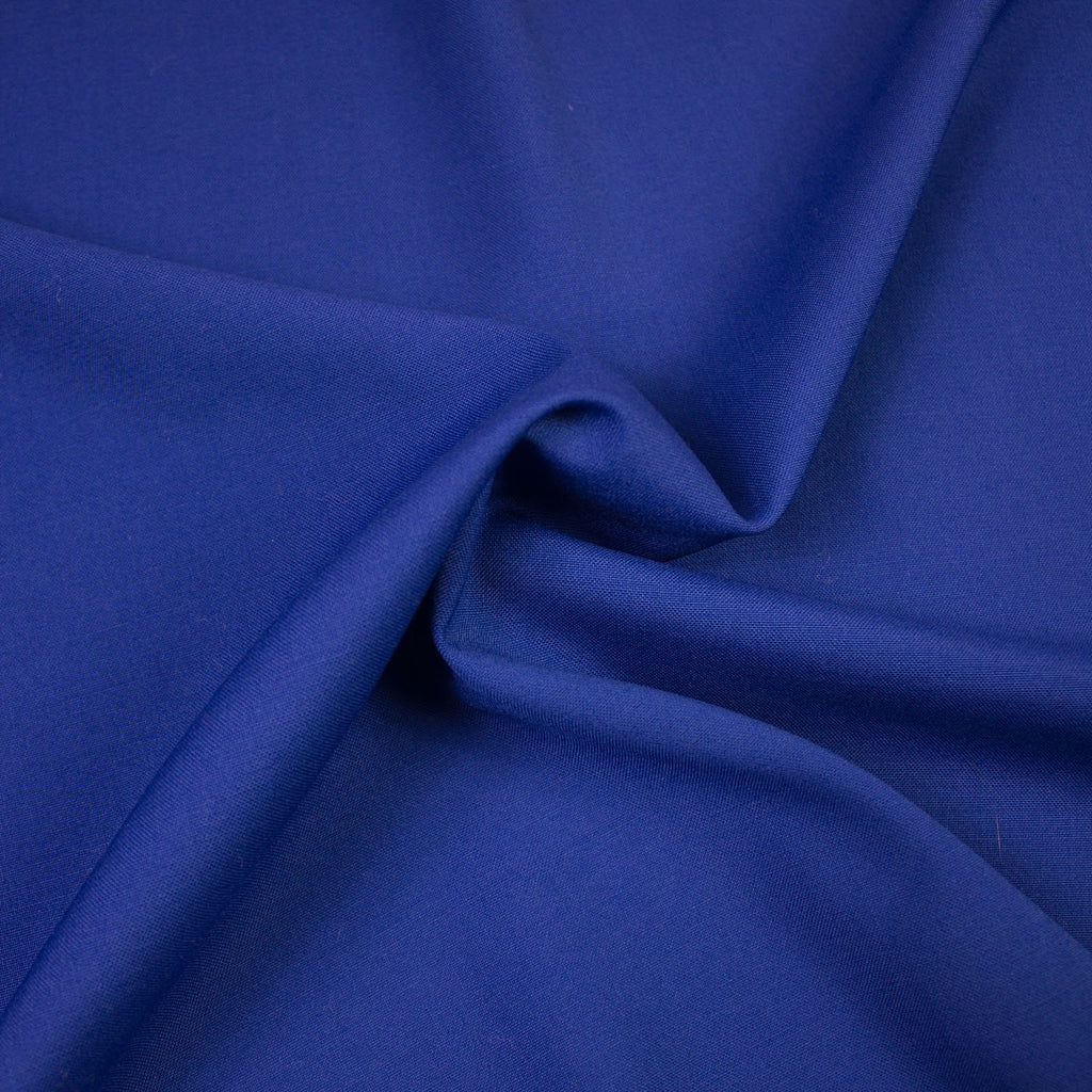 Max Electric Blue Merino Suiting Wool