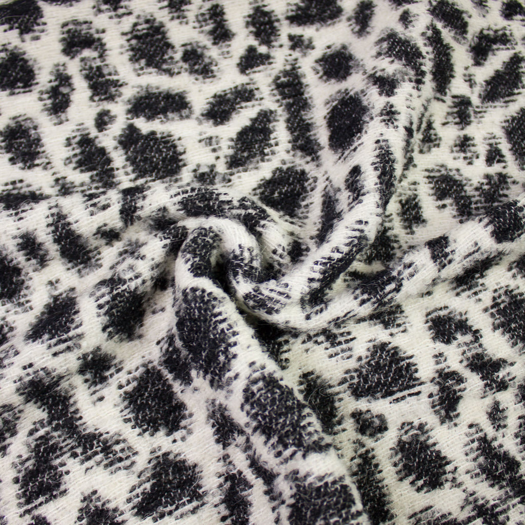 Luis Black and White Wool Alpaca Blend