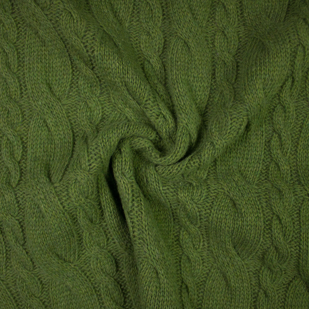 Jaclin Forest Green Knitted Wool