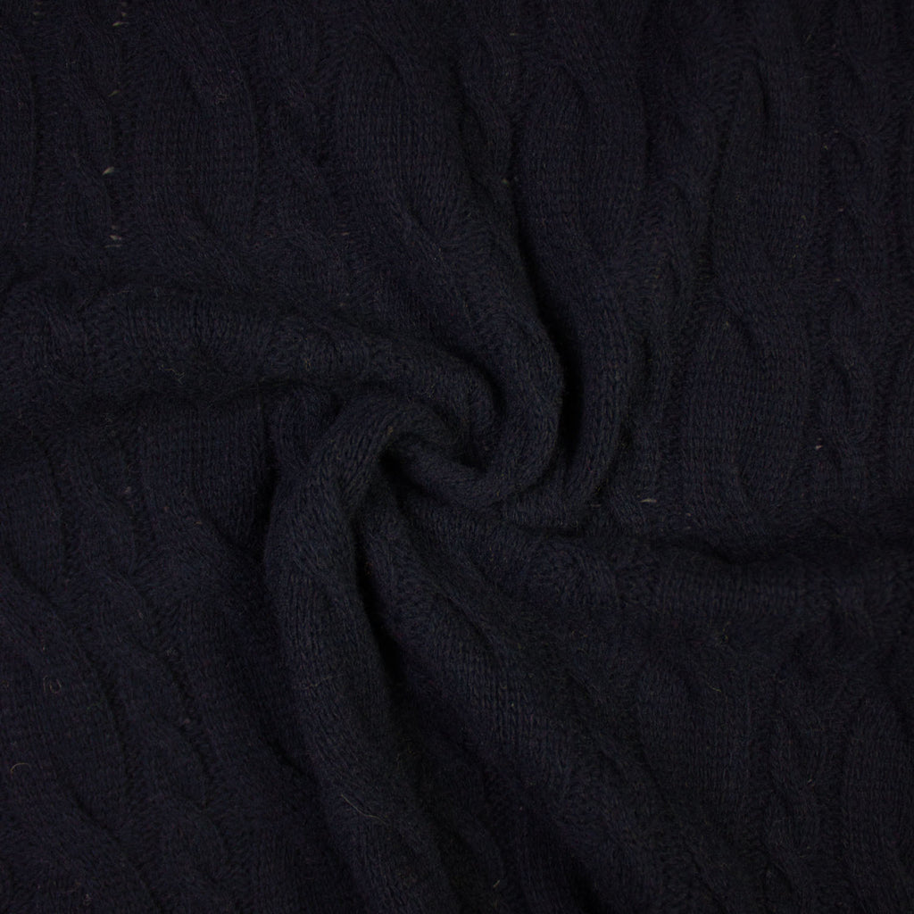 Jaclin Navy Blue Wool Knit